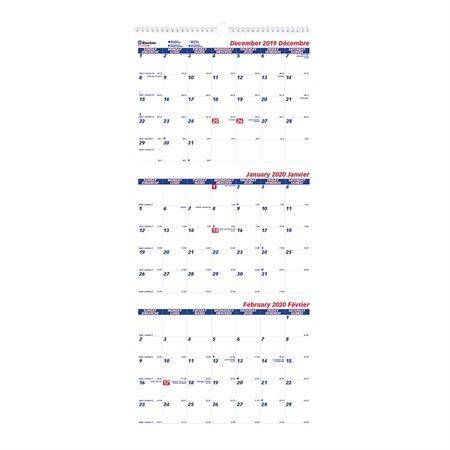 3-Month Wall Calendar (2020)