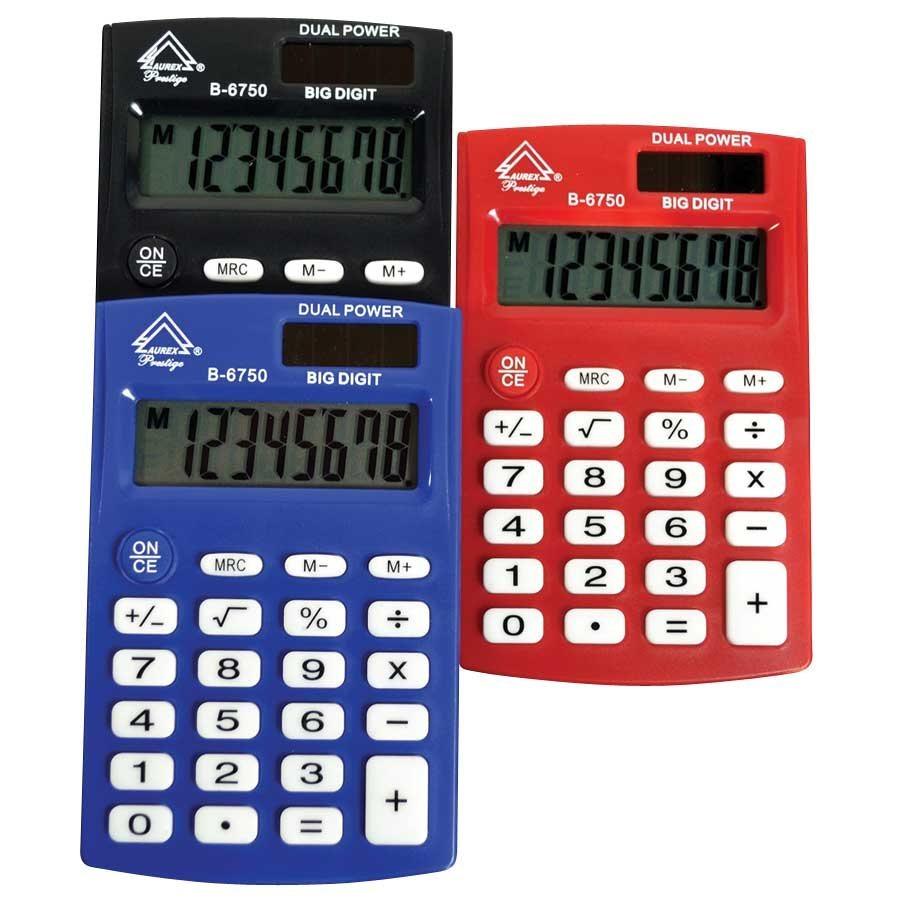 """B-6750"" pocket calculator"
