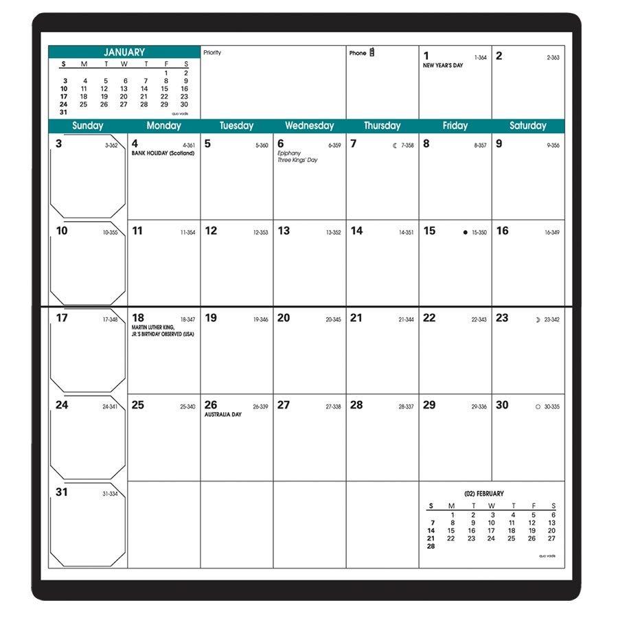 Agenda de poche mensuel Visoplan (2019)
