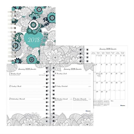 Agenda à colorier hebdomadaire/mensuel (2019)